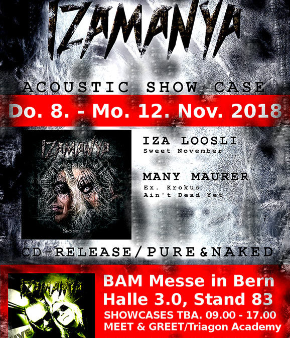 8/11/18 – 12/11/18 CD Release Pure and Naked – BAM Messe